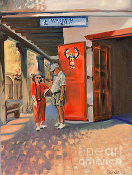 Old Town Tourists by Kathleen Hawkes