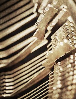 Old typewriter at work by Lars Hallstrom