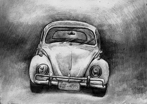 Old Volkswagen Beetle by Di Fernandes