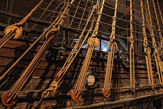 Old war ship ropes by Alex Sukonkin