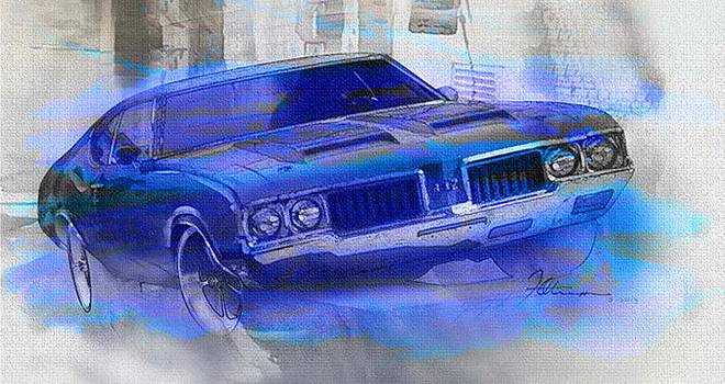 Olds 442 art by Fred Otene