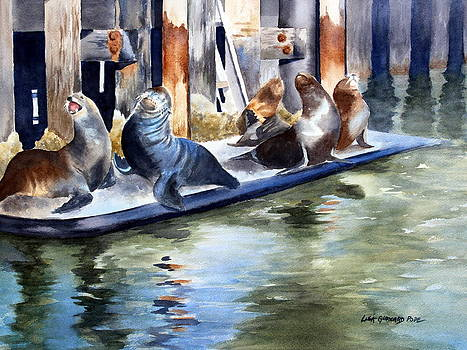 On a California Pier by Lisa Pope