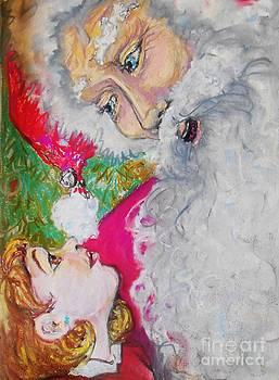 On Santa's Lap by Emily Michaud