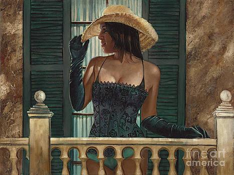 On the Balcony by Geraldine Arata
