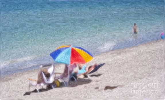 On the Beach Ver-1 by Larry Mulvehill