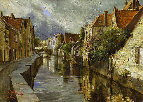 On the Canals of Brugge by Oleg Trofimoff