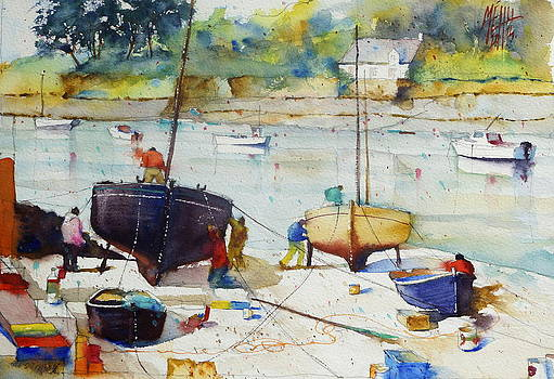 On the drydock at Doelan by Andre MEHU