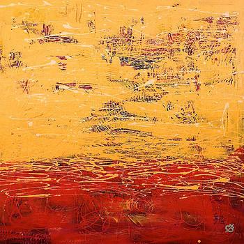 Orange Abstract by Elena Bulatova