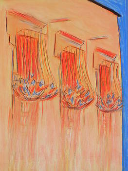 Orange Balcony by Marcia Meade