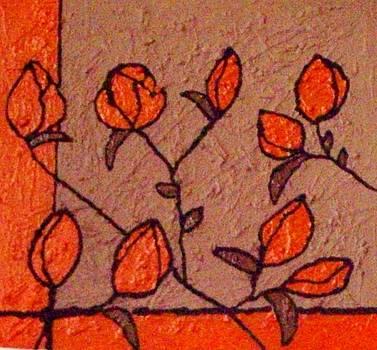Orange Bloom by Lynette  Swart
