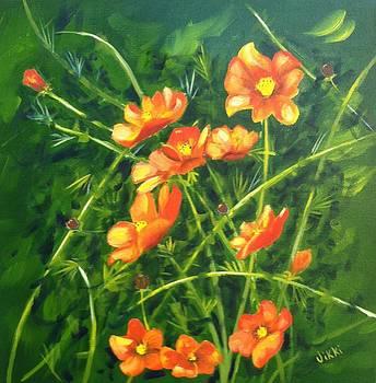 Orange Flowers by Vikki Angel