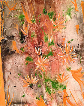 Orange Flwers by Sima Amid Wewetzer