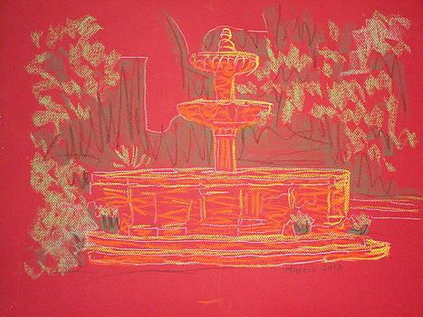 Orange Fountain by Marcia Meade