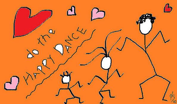 Orange happy Dance by Vivian Sutherland