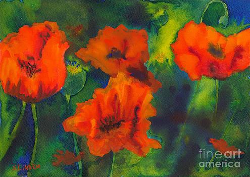 Orange Poppy Delight by Sandy Linden