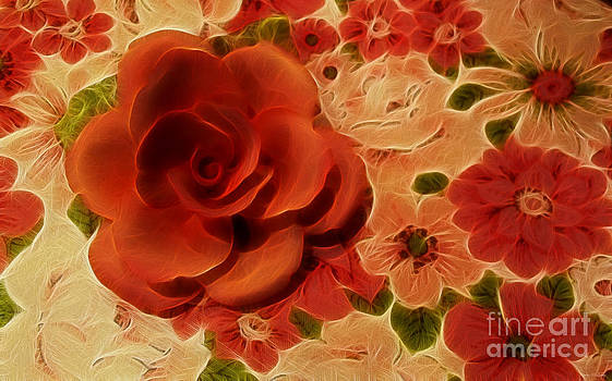 Orange Rose by Kathie McCurdy