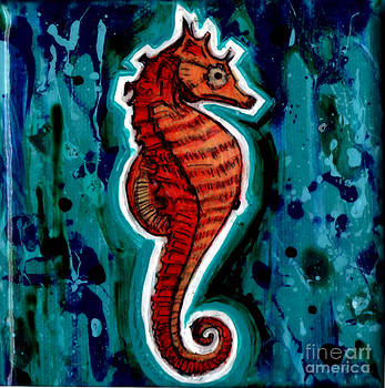 Genevieve Esson - Orange Seahorse