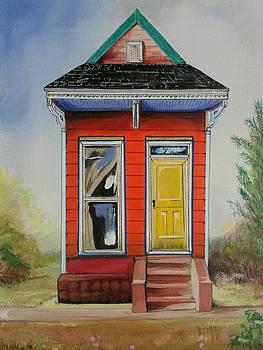Orange Shotgun House by John  Duplantis