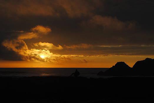 Orange Sunset by Virginia Cortland