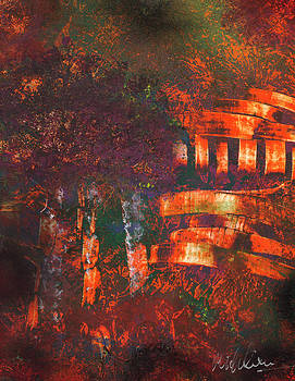 Orange Temple by Mike Cicirelli