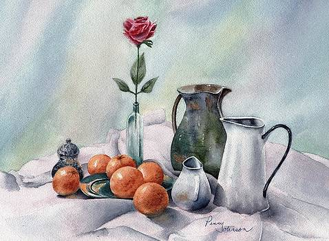 Oranges And Pitchers by Penny Johnson