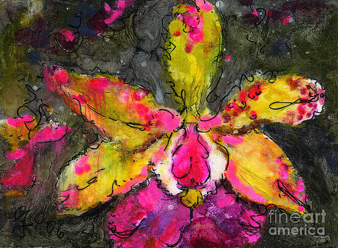 Ginette Callaway - Orchid Modern Expressive Painting