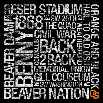 Oregon State College Colors Subway Art by Replay Photos