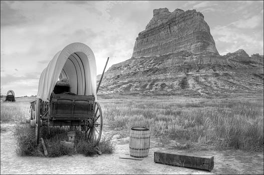 Oregon Trail at Scottsbluff National Monument by Geraldine Alexander