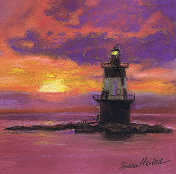 Orient Point Lighthouse Sunset by Susan Herbst