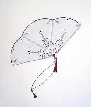 Oriental Fan by Christine Corretti