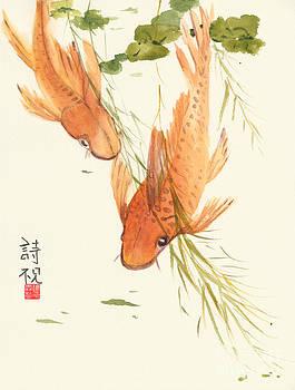 Oriental Koi II by Sandy Linden