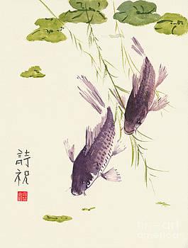 Oriental Koi III by Sandy Linden