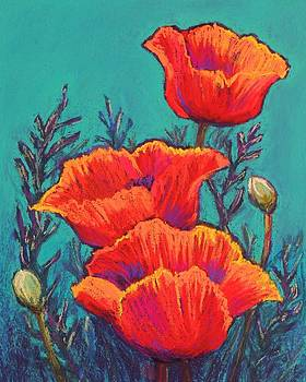 Oriental Poppies by Candy Mayer