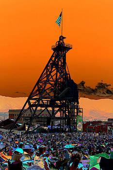 Original Mine Yard Montana Folk Festival 2013 by Kevin Bone