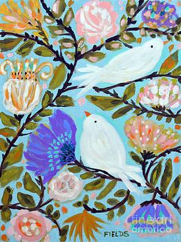 Original Painting BIRD SERIES D by Karen Fields