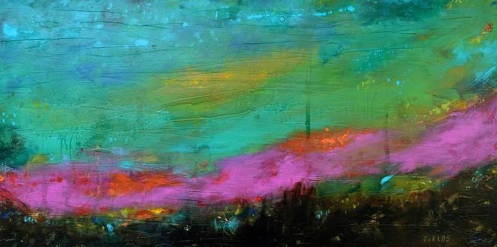 Original Painting Huge SPECTACULAR SUNSET 48X24 by Karen Fields