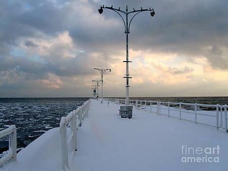 Oshawa Pier in December by Avis  Noelle