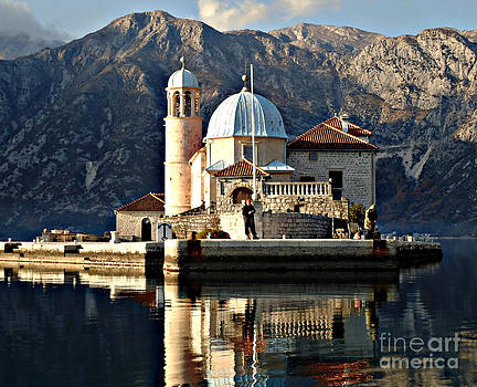 Our Lady of the Rock Montenegro by Ann Johndro-Collins