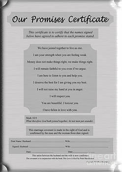Our Promises Certificate by I Attract Good