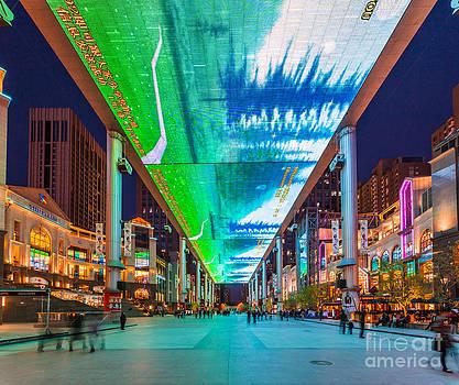 Outdoor LCD screen in Beijing China by Fototrav Print