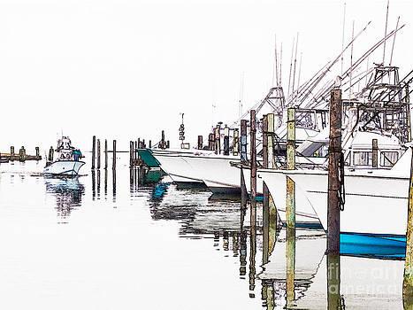 Dan Carmichael - Outer Banks Fishing Boats Sketch #2