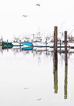 Dan Carmichael - Outer Banks Fishing Boats Sketch #3