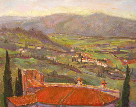 Over the Italian Rooftops by Robie Benve
