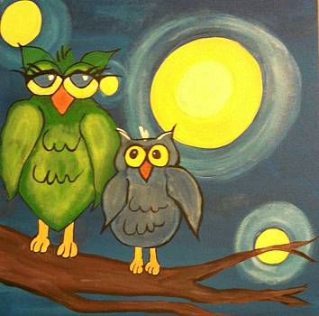 Owl Duo by Tammy Cote