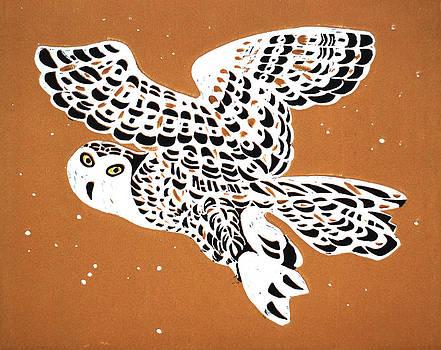 Owl In Gold Sky by Vadim Vaskovsky