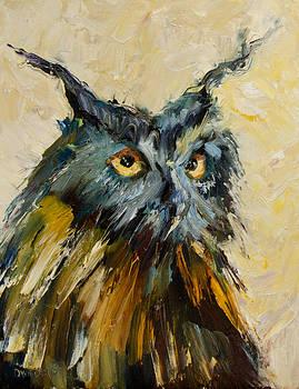 Owl Study by Diane Whitehead
