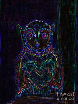 Owl Understand at Night by Loyda Herrera