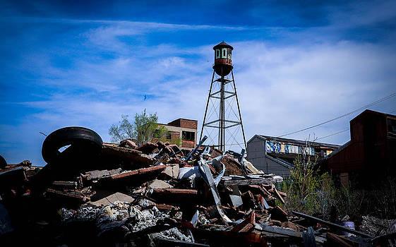 Packard Plant Watertower by Daniel Mercadante