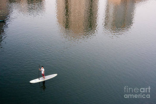 Paddleboarder by Amy Bynum