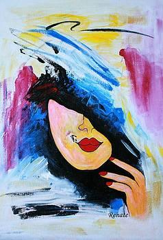 Paint-brush doodle by Renate Dartois